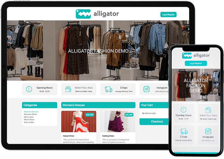 Responsive Online Clothing store of Alligator